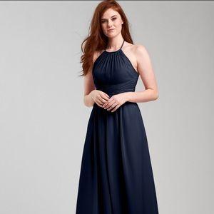 Weddington Way diana halter dress in navy. Size 0.